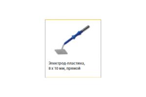 Электрод-пластина прямой антипригар 8x10мм, для 4мм, L=65мм